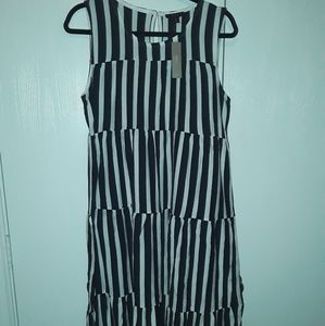 NWT J.Crew Striped Midi Cotton Dress